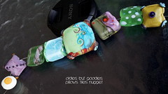Oldies but Goodies Pillows Tiles Nugget (Laura Blanck Openstudio) Tags: openstudio openstudiobeads glass handmade lampwork murano beads set made usa fine arts jewelry art artist artisan whimsical funky odd colorful multicolor abstract asymmetric earthy organic bohemian boho matte opaque frosted gypsy etched glow glowing nuggets tiles pillows square charm tabs yellow ocher green purple violet grape lilac lavender olive blue aqua turquoise sage twistie