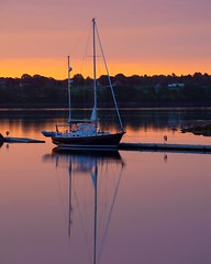 Thomaston Harbor, Maine at dawn (susanbellphotography) Tags: maine boat water dawn sunrise harbor sailboat