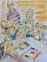 CCAC 9.22.18 #watercolor Demonstration. (Howard TJ) Tags: watercolor ccac drawing group people lifedrawing life study ohio columbus painting