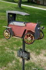Antique Auto Box (Imagination04) Tags: mail box post usps postal service us united states antique car auto