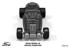 Ford 1934 Model 40 Edsel Special Speedster (lego911) Tags: ford motor company edsel model 40 v8 speedster roadster custom factory gregorie 1930s classic vintage studio auto car moc miniland lego lego911 ldd render cad povray usa america afol artdecocars art deco cars ncma