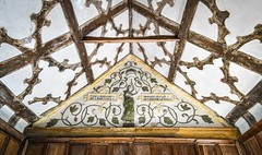 The Speare of Destinye (robmcrorie) Tags: little moreton hall national trust 16th 17th century half timbered oak house nikon d850 moated historic spear lance destiny destinye speare whose ruler is knowledge plaster long gallery