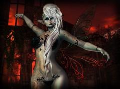 I see fire (Anna_Angelica) Tags: plastik adoness whimsical maitreya catwa arte boataom secondlife faery fae