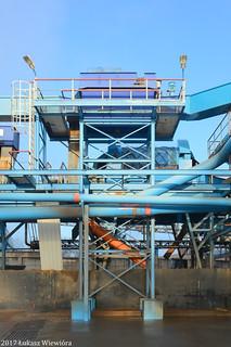 Krajowa Spółka Cukrowa S.A. Cukrownia Nakło - węzeł oczyszczania buraków. | Polish Sugar company, the Nakło sugar factory. The beet cleaning facility.