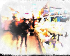 Pike Place Market. Abstract. (Richard Denney) Tags: pikeplacemarket seattle washington people abstract color textures intentionalcameramovement icm streetphotography painterly