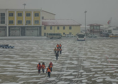 Civil airport in a snowing winter day (phuong.sg@gmail.com) Tags: air airfield airliner airport arrival asphalt aviation business cargo cold commercial day departure engine flight fly frost high industrial infrastructure journey landing landscape modern passanger passenger plane runway sky snow snowfall speed storm summer takeoff technology tourism tourist transport transportation travel trip vehicle white winter