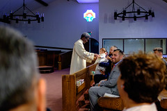 Gavin Roman (dan-gutierrez) Tags: stvictorcatholicchurch gavinroman catholic sanjose christening fujifilm x100t stvictor baptism church