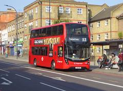 SLN 12389 - YX16OHE - NEW CROSS ROAD - THUR 6TH SEPT 2018 (Bexleybus) Tags: new cross x road a2 south east london stagecoach adl dennis enviro 400 mmc tfl route 53 12389 yx16ohe hybrid