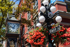 Gastown Vancouver Steam Clock Water Street