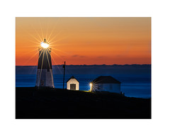 Point Judith Sunrise (DerickHopkins81) Tags: point judith rhode island light house water ocean sunrise clouds blue orange pentax k3ii sigma 70200mm narragansett