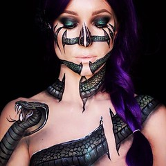 Snake By @lisamarie_murphy (ineedhalloweenideas) Tags: halloween makeup make up ideas for 2017 happy night before christmas october 31 autumn fall spooky body paint art creepy scary horror pumpkin boo artist goth gothic amazing awesome
