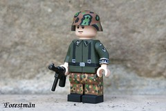 Prinz Eugen volunteer, custom LEGO (Forestmän) Tags: lego wwii ww2 ss waffen war world custom painted prinz eugen