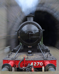 Tunnel Vision (Treflyn) Tags: slow speed shot gwr great western 280t 4270 train backwards greet tunnel vision gloucestershire warwickshire railway 30742 charters photographic day photo charter motion movement