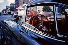 Car Tunes (lancekingphoto) Tags: cartunes antique car carshow vintagecar downtown findlay ohio fppwalkingworkshop2018 konicawide28 lomography400 35mm film unicolor