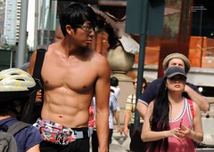 NYC Summer Streets, By Grand Central Station  8-18-18 (local1256) Tags: nyc newyorkcity summerstreets manhattan parkave grandcentralstation parkaveviaduct viaduct candid candidphotos portrait streetevent festival photographer muscles abs abdominals