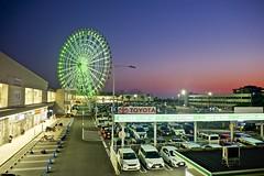 Ferris Wheel, Rinku Town (I M Roberts) Tags: ferriswheel nightscene rinkutown izumisano osaka japan sunset urbansetting fujix100s wideangleconverter