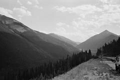 Looking up the valley (edwardcgonzales) Tags: olympus pointshoot ps stylus olympusstylus olympusstylusinfinity infinitystylus kodak kodaktrix trix400 trix blackandwhite bnw bwfilm bw xtol