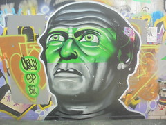 771 (en-ri) Tags: coy sp br verde arancione gigio 3d uomo man testa head firenze wall muro graffiti writing