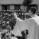 SAIGON 1963 - Chùa Xá Lợi - Buddhist Monk Speaking to Crowd thumbnail