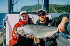 Salmon fishing at Langara Island Lodge, Haida Gwaii (Langara Fishing Adventures) Tags: alaska bc britishcolumbia canada dixonentrance grahamisland haidagwaii langaraisland pacificnorthwest queencharlotteislands fishinglodges