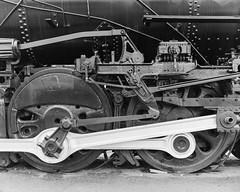 Drivers, Santa Fe #2912 - Pueblo, CO (Christopher J May) Tags: train locomotive railroad steamlocomotive atsf santafe pueblo colorado co korona8x10 kodak12inchf63commercialektar ilfordfp4 8x10 film ishootfilm filmisnotdead itjustsmellsfunny