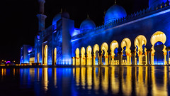 Sheikh Zayed Mosque (Hameed S) Tags: architecture dubai abudhabi uae travel traditional culture tourism tourist landmark nightphotography longexposure gold peace tranqulity dome middleeast
