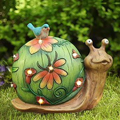 Solar Powered Garden Decor Snail Figurine (mywowstuff) Tags: gifts gadgets cool family friends funny shopping men women kids home