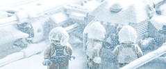 zero visibility (jooka5000) Tags: starwars lego hoth snowfall nature plastic toyphotography cinema toycinematic incamera ywing starfighter toys forcesofnature minifigs snow winter scene
