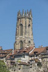 Immaculée (Philippe Bélaz) Tags: cathédrales fribourg architectures immaculée pierres urbain vieillesvilles villes été