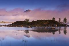 Lochan na h-Achlaise (Rannoch Moor) - Misty Morning (sunstormphotography.com) Tags: lochannahachlaise lochan rannochmoor blackmount mist dawnlight island scotland scottishhighlands westernscotland canon5dmark3 canon24105l ndgradfilter polarisingfilter landscape mountains lake