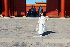 2018 Beijing - Gu Gong 45 (C & R Driver-Burgess) Tags: gugong forbiddencity beijing ancient palace buildings decorated painted elaborate chinese crowds tourists gold gate entrance exit courtyard plaza open space area square 故宫