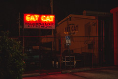 EAT CAT (3rd-Rate Photography) Tags: eatcat fatcat neon neonsign funnysign jacksonville florida canon 50mm 5dmarkiii 3rdratephotography earlware 365