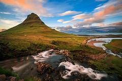 014_8038: Kirkjufell, Iceland (Shawn-Yang) Tags: kirkjufell iceland sunset landscape seljalandsfoss southshore waterfall river water behind bridge cliffs rocks moss grass nature canon outdoor serene