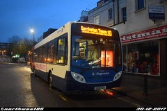 27666 (northwest85) Tags: stagecoach worthing gx10 kzu 27666 alexander dennis adl enviro 300 10 durrington tesco south street bus gx10kzu