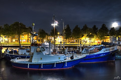 City harbour Den Helder Reddingmuseum KNRM (pe0s, Steven) Tags: denhelder haven harbour willemsoord hdr nacht night schip boot lifeboat knrm reddingmuseum sar search rescue