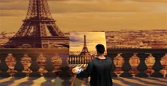 """"""" Paint a bigger picture """" (maka_kagesl) Tags: second secondlife sl life landscape paris france city game gaming virtual videogame"""