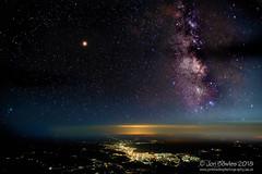 Milky Way and Jupiter over Thessaloniki (from 37000 feet) (Jon Bowles) Tags: sky milkyway aerialphotography aerial nightscape starscape thessaloniki greece skyatnight longexposure color night nightphotography