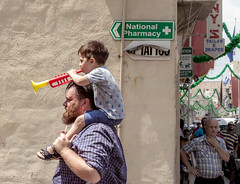 Band followers (kurjuz) Tags: malta sangejtanu band bigshoulders celebration festa followers signs street summer toytrumpet ä¦amrun