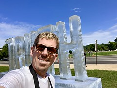 Truth is Fragile and Fleeting in this Town... (swanson.matt) Tags: subtle artistic park capital capitol congress melting sculpture ice artist selfie exhibit mall political truth art