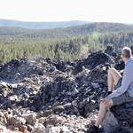 David taking a rest on Big Obsidian Flow thumbnail