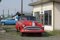 Pontiac (Curtis Gregory Perry) Tags: 70 mile house british columbia car red pontiac canada canadian vehicle old gas station nikon d810 ford