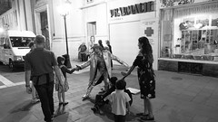 Touch of street artist, Nice (Dawid Tokarz) Tags: nice france city center street artist art french riviera travel black white bw grey monochrome sony ilce a6000
