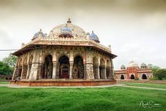 Tomb and mosque of Isa Khan Niyazi (marko.erman) Tags: isakhan niyazi newdelhi india mughal tomb octogonal garden decorated shershan sandstone mosque monument architecture wideangle unesco worldheritagesite