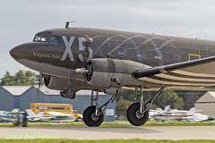 """N62CC Douglas DC-3 """"Virginia Ann"""" (Anhedral) Tags: airventure2018 oshkosh kosh osh eaa airplane n62cc dc3 c47 4330647 airshow virginiaann takeoff warbird"""