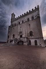 Palazzo dei Consoli (marcello.machelli) Tags: rosso gubbio palazzodeiconsoli italia umbria italy tramonto pioggia landscape travel travelling nikon tokina nikond810 cloudy nuvoloso nuvole