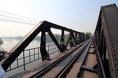 Bridge on the River Kwai, Kanchanaburi, Thailand 2018 (Dis da fi we) Tags: bridge river kwai kanchanaburi thailand burma railway rail rails steel irron