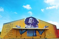 New Orleans (kirstiecat) Tags: neworleans streetart light girl barn sky clouds artistbrandanbmikeodum inspiring amazing america unitedstates art colours colors blacklivesmatter poem poetry