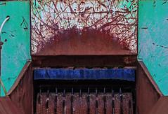 grinder (lowooley.) Tags: alston cumbria northernengland junkyard recycling grinder