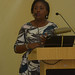 Omolayo giving her presentation on the youth incubation models