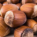 Close up on pile of Hazelnuts